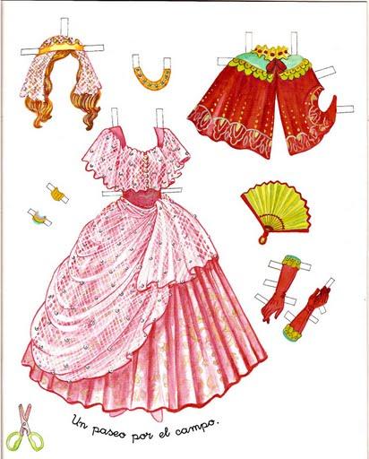 Как для куклы сделать платье из бумаги своими руками