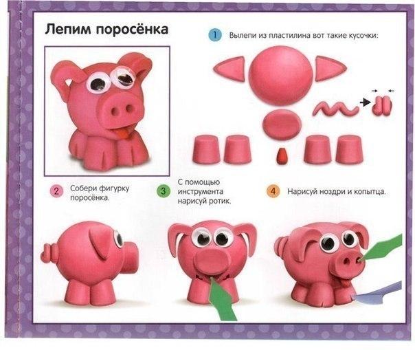 Фигурки из пластилина с и схемами